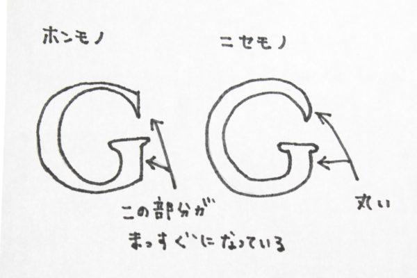 グッチ ロゴ 真贋方法